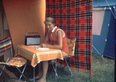 """Foto-Aktion """"Ich und mein Radio"""": Radio und Camping 1967"""