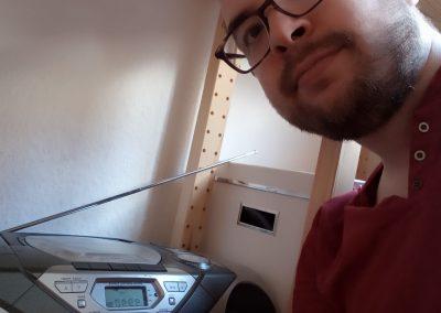 """Foto-Aktion """"Ich und mein Radio"""": Das Küchenradio und ich."""